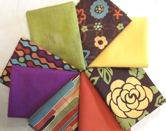 Fat Quarter Bundle (8) - Featuring Nomad by Jen Fox for P & B Textiles