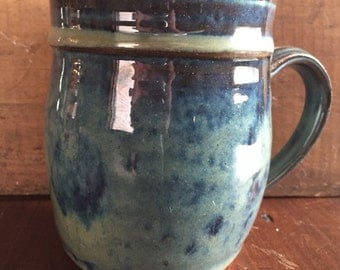 Floating blue mug