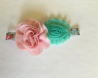 Country rose headband-Newborn