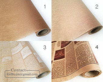 19.6Y(18m/59ft)_Kraft Brown Waxed paper roll_Coated paper for food wrapping_baking, sandwich, deli, florist, soap_Food Safe paper