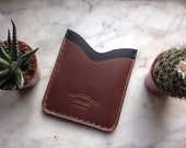 Two Pocket Elan Wallet in Horween Essex