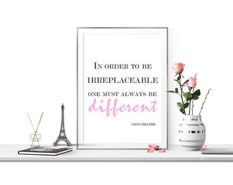 Chanel Quote -Coco Chanel Art Print