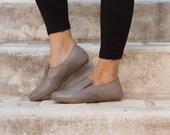 Plats de Anya, chaussures ballerine en cuir, cuir, chaussures plates, chaussures, chaussures d'hiver, Autoumn femmes, livraison gratuite