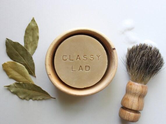 CLASSY LAD // Handmade // All Natural // Vegan // Bay // Cedar // Beer // Shaving Soap