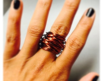 Pretty wire-wrapped ring