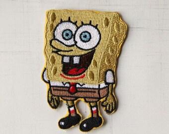 5 x 7.5 cm, Sponge Bob Iron On Patch (P454)