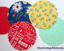 """Craft Circles 4.5""""  One set 42, Die-cut Circles  The Sweet Life by Pat Sloan for Moda Fabrics"""