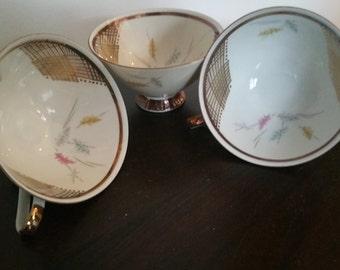 Set Of 3 Vintage Winterling  Bavaria Cups