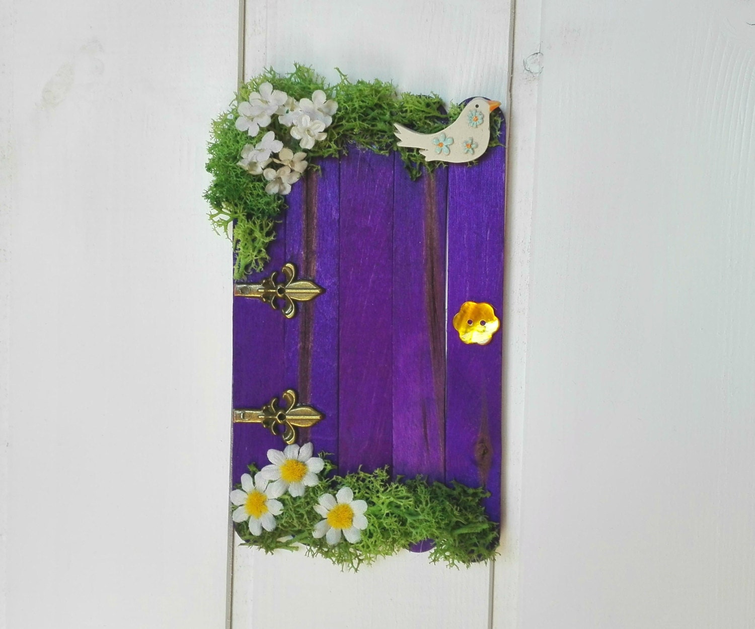 Fairy crib decor elf door tooth fairy door dollhouse door for Elf door decoration