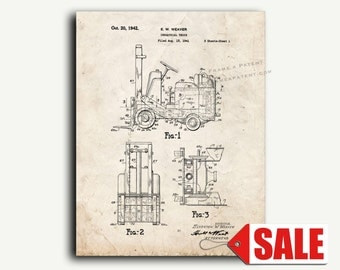 Patent Art - Forklift Patent Wall Art Print