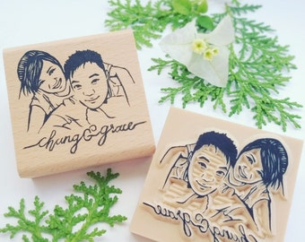 Couple Portrait Stamp