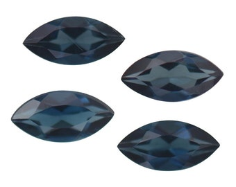 Blue Indicolite Tourmaline Loose Gemstones Set of 4 Marquise Cut 1A Quality 4x2mm TGW 0.25 cts.