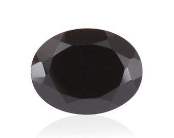Thai Black Spinel Oval Cut Loose Gemstone 1A Quality 12x10mm TGW 6.50 cts.
