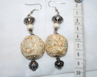 Japan Ojime Beads Earrings