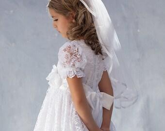 Couture Veil, Bridal Veil, Wedding Veil, Flower Girl Veil, Girl's Veil