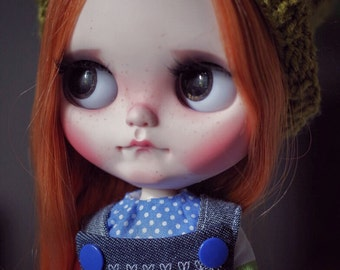 SOLD OUT - OOAK Custom Blythe doll on  a tilt licca body