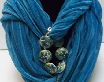 Gems from the Sea Scarf Jewelry