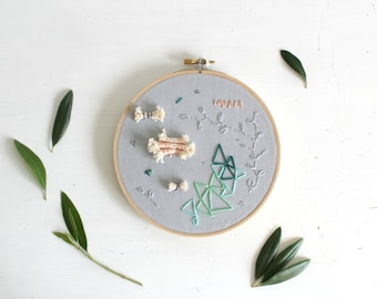 Scribbles & Branches - Abstract Embroidery Art Embroidery Hoop Art