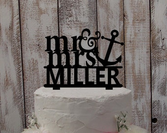 Anchor Wedding Cake Topper Uk