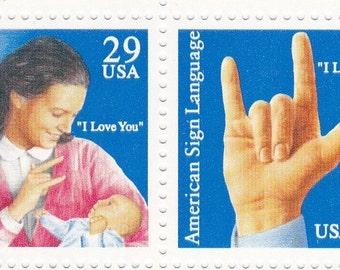 Sign language stamp   Etsy