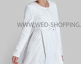 Bridal wedding coat Minky Satin coat E1613 Bridal Coat