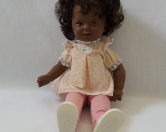 "1980 16"" Mattel Doll Love 'N Touch Real Sister Black African American Toddler Sister"