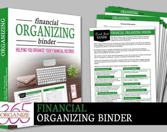 Digital Financial Organizing BinderDownload & EDITABLE Pdf