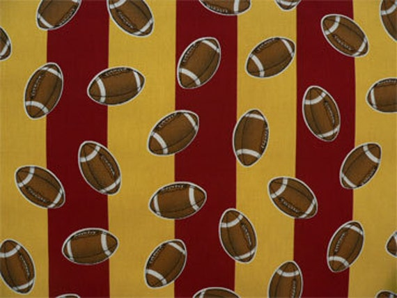 Football Sports Fabric Drapery Fabric Home Decor Fabric Stripe Home Decor Baby Nursery Diy Sewing Craft Supplies Fabric By The Yard