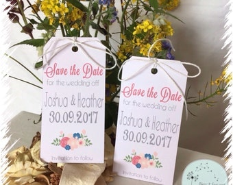 Save the date gift tags - set of 30 - wedding stationary