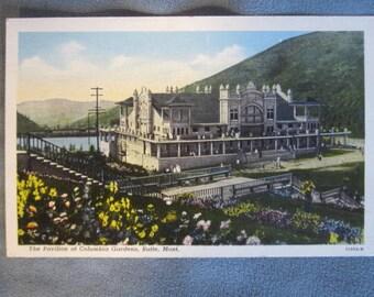 Columbia Gardens Butte, Montana Vintage Linen Postcard - Silver Bow News - Curteich 11353-N
