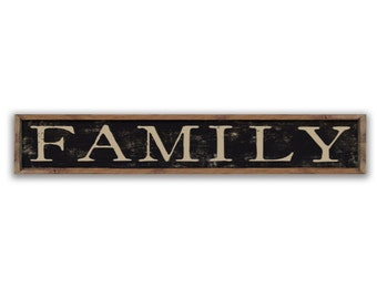 "Family signs home signs family wall art home plaques wedding gifts family gifts wooden family signs housewarming gift custom 36""x8""x2"""