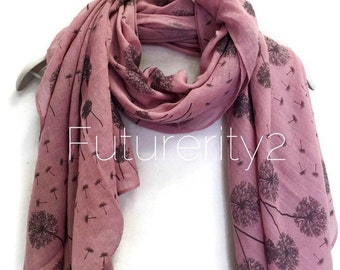 Floating Dandelion Pale Purple Scarf / Spring Summer scarf / Women Scarves / Gifts For Her / Accessories / Handmade