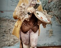 Vintage Enesco Japan Ceramic Colonial Painter Artist Small Statue Figurine Home Decor