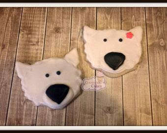 "Polar Bear decorated sugar cookies 1 dozen 3"""