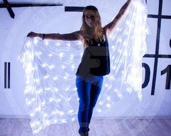 LED light silk belly dance veil 150 LEDs