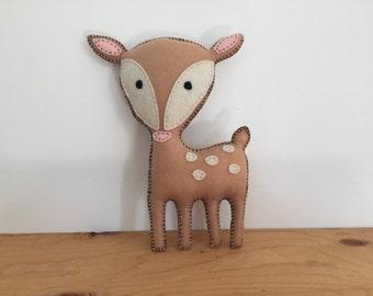 Felt Deer Stuffed Animal