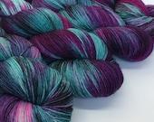 Hand dyed merino nylon sock yarn - Tease