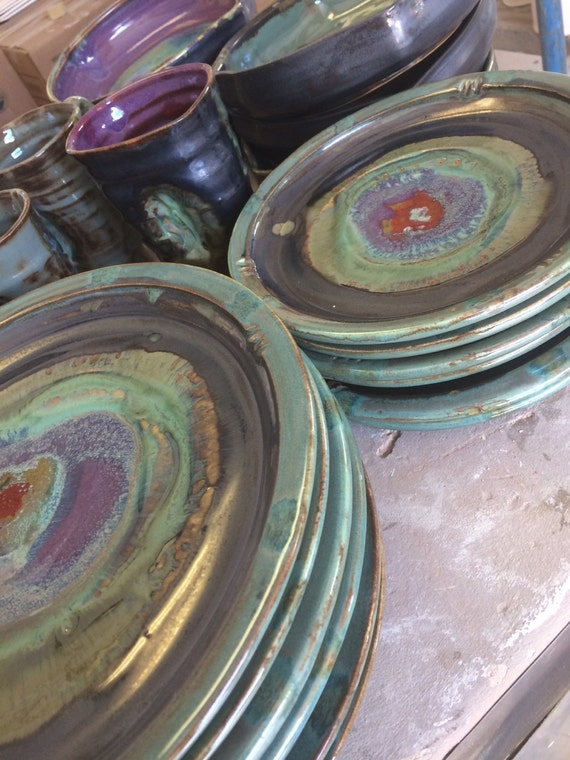 Handmade Ceramic Round Dinner Plates By Potterybyjessie On