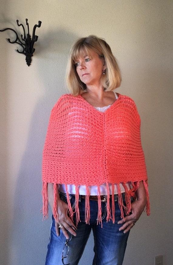 Mountain Dandelion Cape - a loom knit pattern