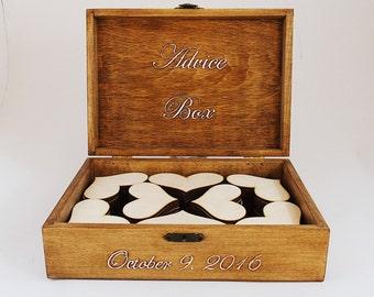 Card Box, Guest Book, Wedding Guest Box, Personalized Guest Book Alternative, Large Rustic Box, Custom Wood Wedding Box