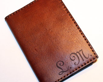 Personalized Passport Cover! Leather Passport Cover With Initials! Passport Holder! Leather Travel Passport Cover! Handmade Passport Cover!