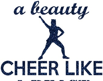 Cheer Like A Beast Iron On Decal