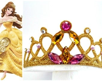 The Beauty And The Beast Belle Headband, PRINCESS BELLE TIARA ,Belle Costume, Belle Headpice,Belle Toddler Costume , Belle Tiara Headband