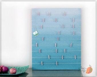 Bulletin Board , Gift For Her , Memo Holder , Teal Room Decor , Memo Cards Display , Kids Room , Teens Room , Cards Display , Girls room Art
