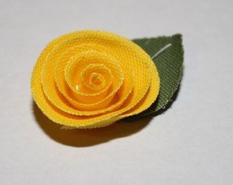 Yellow Flower Men's Lapel Pin - Wedding / Formals / Everyday
