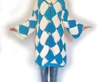 Coat Vest knit cardigan jacket interlaced fashion handmade Christmas gift idea