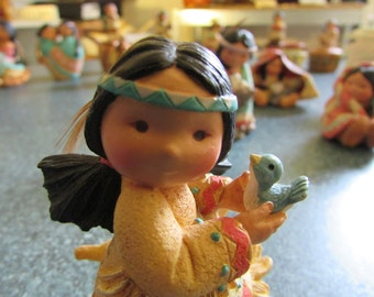"""Vintage Enesco 1994 Friends of the Feather """" Little Bird Told Me """" Figurine"""