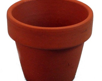 10 3 x 2 5 mini clay pots great for plants and for Small clay pots