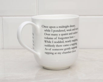 The Raven Literary Giant Bone china cup