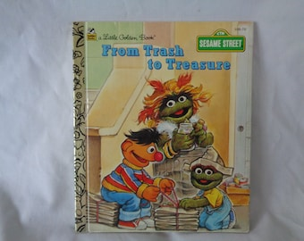 vintage 1995 Little Golden Book Sesame Street From Trash to Treasure by Liza Alexander